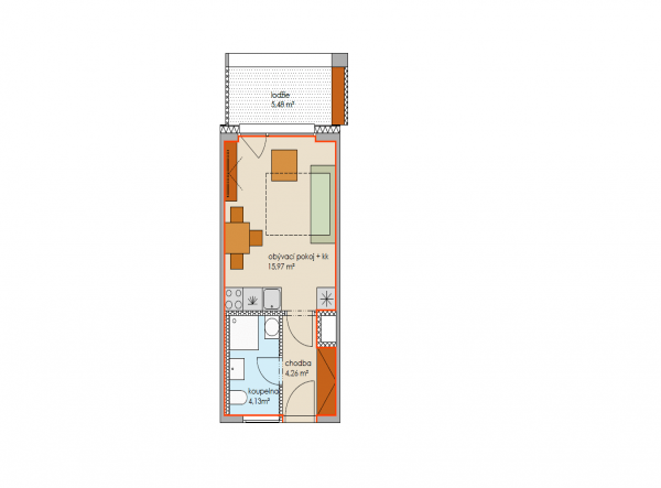 Квартира 1+кк 30м2