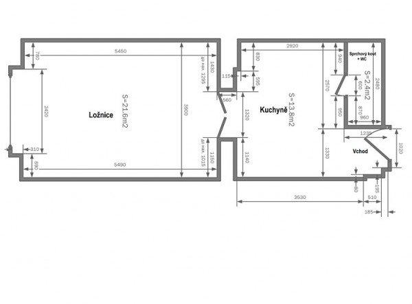 Квартира 1+1 38м2